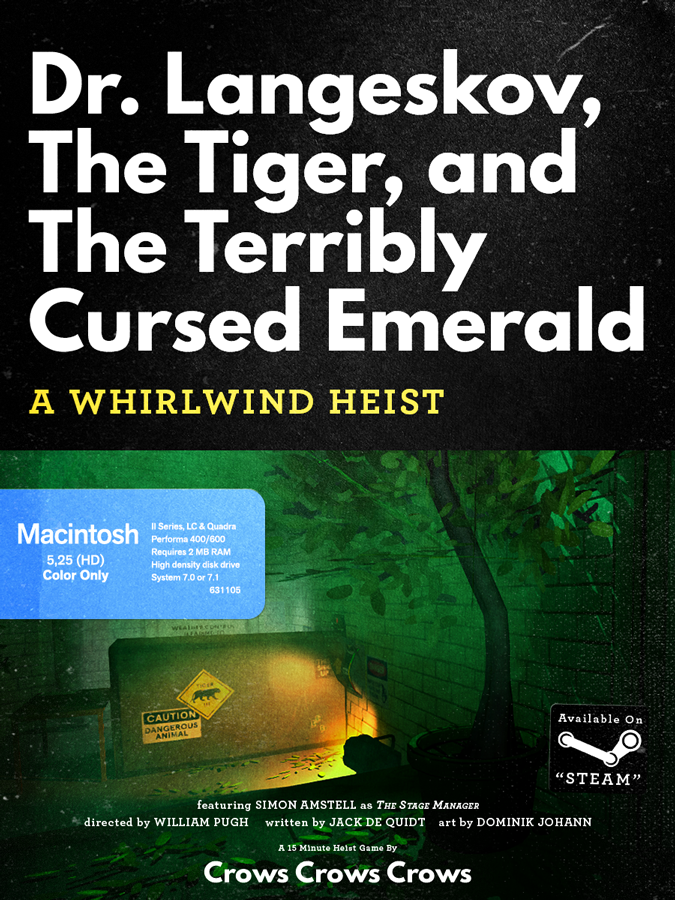OMUK - Boxart: Dr. Langeskov, The Tiger, and The Terribly Cursed Emerald: A Whirlwind Heist